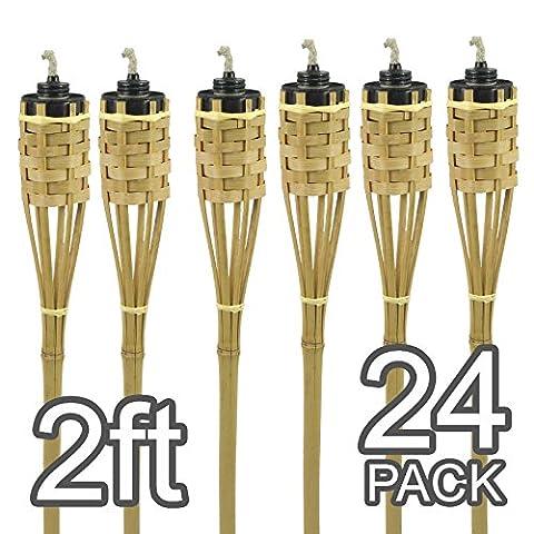 Mini 2m main Lampes torches en bambou naturel, Uni, Pack of 24