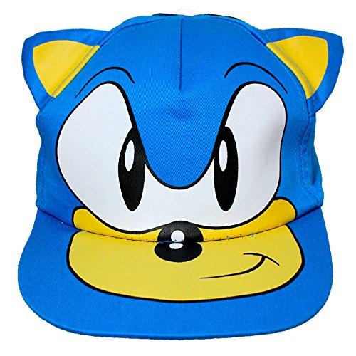 kids-blue-sonic-the-hedgehog-cap-hat-age-4-8-years-3d-ears-by-sonic-the-hedgehog