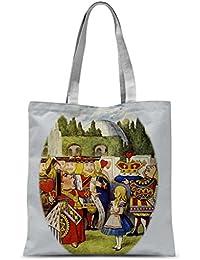 Alice in Wonderland Tote Bag Shopping Bag - Queen of Hearts Tote Bag Shopping Bag