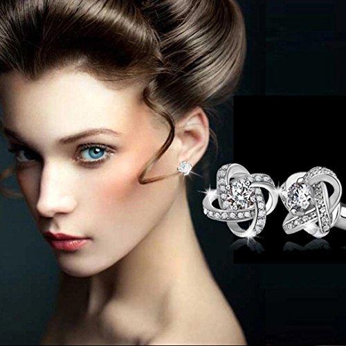 Ohrstecker Damen,DOLDOA Schmuck Ohrringe Earring Ohr Ring Ohrschmuck (Silber - 1,Ohrringe)