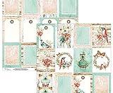Il doppio ha Parteggiato Carta Scrapbook Mintay il canto degli Uccelli (1pcs) Bir-06, Mintay Da Karola, 30 x 30 Natura, Fogli di Carta, Stampati, Scrapbooking