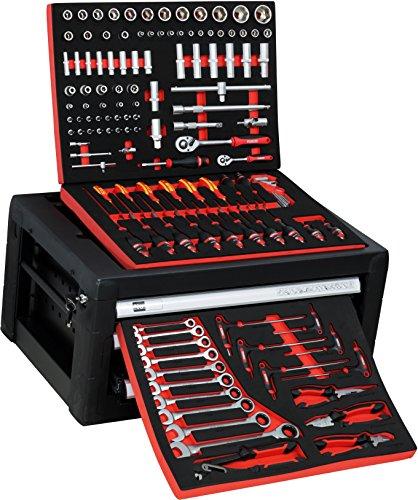 BigBoy V2 Werkstattwagen Werkzeugkiste Kombination - gefüllt mit Handwerkzeug | 10 Schubladen - 8 bestückt | Bit Sets, Ratschen, Nüsse und vieles mehr... - 5