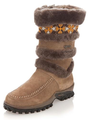Kefas - Lillestrom 2728 - Stivali invernali scamosciati donna Sabbia
