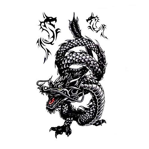Tribal Drache Schlange Einmal TattoosTemporary Temporäre Tattoo Body Sticker
