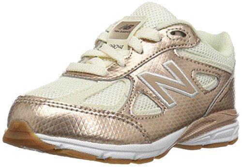 New Balance Unisex-Baby 990 KJ990V4I Kinder Schuhe, 23 EUR - Width XW, Gold/White (Balance Kinder New Xw)