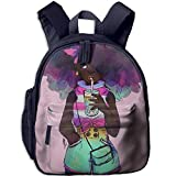 Lovely Schoolbag Blue Hair African Girl Double Waterproof Children Schoolbag with Front Pockets for Youth Boys Girl