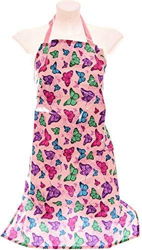 ARBEITS-SCHÜRZE, Farbe: SCHMETTERLINGS-DESIGN ... schützen Sie Ihre Kleidung vor Staub und Modellagematerial (Schmetterlings-schürze)
