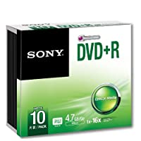 Sony DVD R 4.7 GB Slim case 10 pcs