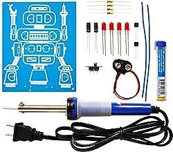 Elenco Led Robot Blinker Soldering Kit With Iron & Solder