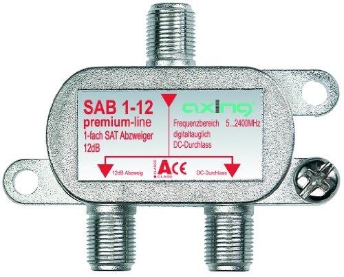 Axing SAB 1-12 1-Fach SAT-Abzweiger mit 12 dB Abzweigdämpfung (5-2400 MHz)