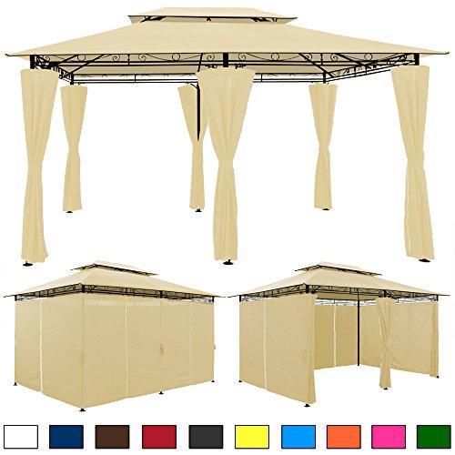 Tonnelle barnum Topas 4x3m Beige - Grande tente de jardin réception pavillon