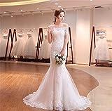 Robe de mariée style queue de poisson sans bretelles