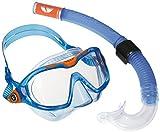 Aqua Lung Sport Schnorchel & Maske Set Kinder Reef 2DX 2-teilig für Kinder Junior, Blaues Set