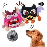 Interaktives Plüschhundespielzeug des Hundespielzeugs, das automatisches Ballspielzeug brummt, das verrücktes springendes Spielzeug des Sports schüttelt, unterhält 2 Sätze