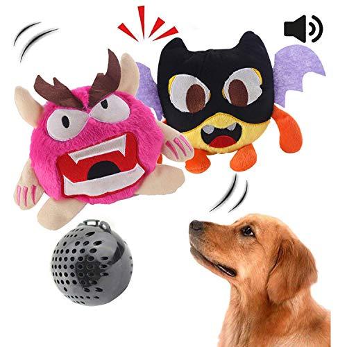 Juguete para perro Juguete interactivo para perro de peluche zumbido Juguete de pelota automático Electrónico Sacudiendo el juguete de salto loco Deportes 2 juegos