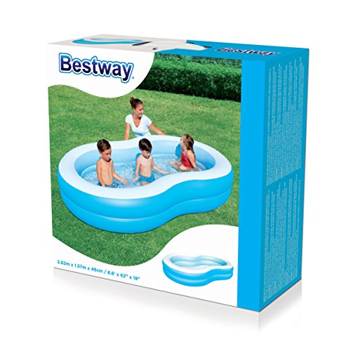 Bestway Family Pool Lagune 262 x 157 x 46 cm