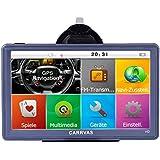 CARRVAS HD Sat NAV 7 Zoll Europe Traffic GPS Navi Navigationsgerät für KFZ LKW TAXI Europäische Karten installiert 8GB 1600mAh