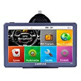 Carrvas 7-Inch HD satellite navigation device for traffic in Europe, GPS navigation device for cars, trucks, taxis with installed European maps, capacity: 8GB, 1600 mAh