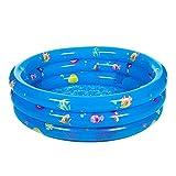 Everpert Dreifach aufblasbare Baby-Schwimmbecken Piscina Portable Badewanne für Kinder Becken Infant 3 Größe(80cm)
