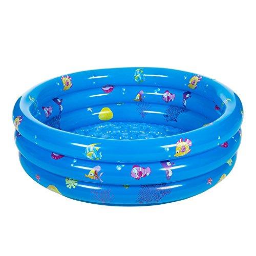 Everpert Dreifach aufblasbare Baby-Schwimmbecken Piscina Portable Badewanne für Kinder Becken Infant 3 Größe(100cm