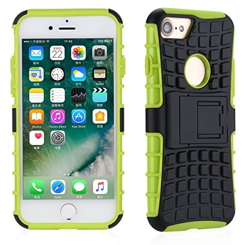 Case Cover TYJTECH cellulari in caso di Design Premium per Samsung per iPhone per la vendita di Huawei Hot Models (iPhone 7 Plus, Bianco) verde
