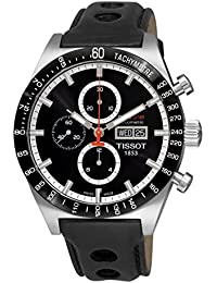 amazon co uk tissot watches tissot men s t sport t044 614 26 051 00 black calf skin swiss automatic watch black dial
