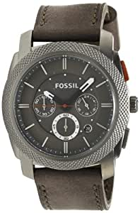 Fossil Herren-Armbanduhr Machine Analog Quarz Leder FS4777