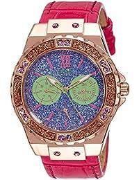 Guess Damen-Armbanduhr Analog Quarz Leder W0775L4