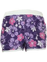 Damen Badeshorts viele VERSCHIEDENE FARBEN. Hot Pants Hipster mit Blumenmuster Größen 32=S // 34=M // 36=L // 38=XL // 40=XXL