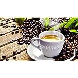 Los granos de café verde Bonsai Semillas fruta del alimento orgánico vegetal de semillas Refrescante Bonsai Árbol de la planta del pote del café para jardín 8 piezas de 2