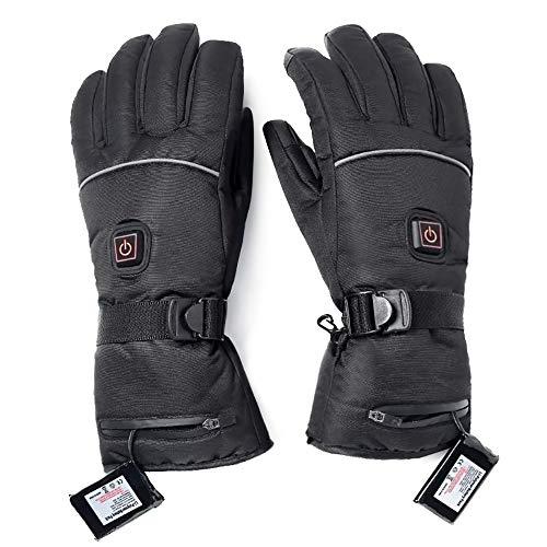GEORGE Handschuhe Beheizbar Winter, Handschuhe Mit 3 Stufen Temperaturregler Handschuhe Mit Wiederaufladbare Lithium-Ionen Beheizt