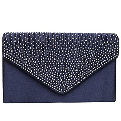SUMAJU Envelope Clutch Bag, Women's Satin Envelope Evening Clutches Wedding and Party Purse Prom Handbags