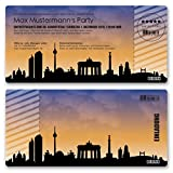 (10 x) Einladungskarten Geburtstag Skyline Berlin Party Ticket Karte Einladungen