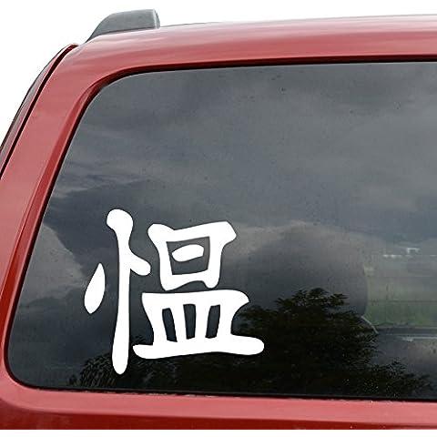 Anger ideogramma Kanji Kotobuki, carattere giapponese, per auto, computer portatili, Ipad, 3 file di vinile, decalcomania