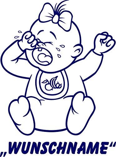 INDIGOS UG - Babystrampler / Strampler 066 mit Wunschname / Wunschtext schwarz 86/92