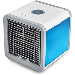 LanLan Ventilador de aire frío, Ventilador eléctrico Mini acondicionador de aire, Humidificador, Limpiador de aire para la casa o officina