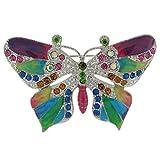 Brooches Store Brosche Emaille und Kristall Brosche Schmetterling Mehrfarbig