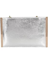 40701c7dfb Litterprince Women Envelope Leather Clutch Evening Party Messenger Chain Shoulder  Bags