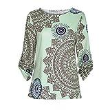 ITISME TOPS Mode Herbst Frauen Damen Druck T Shirts Casual Langarm Oansatz Bluse Tops -