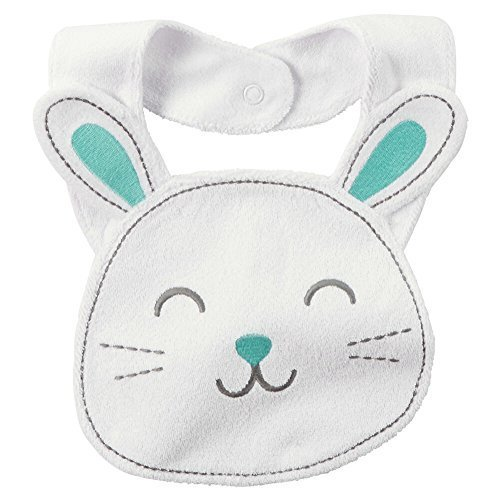 Carters Easter Terry Teething Bib Bunny White by Carter's 119 Terry