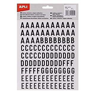 APLI 4415 Sticker Buchstaben, Nummern und Zeichen 15 mm, schwarz