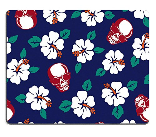 Luxlady Gaming Mousepad ID 40678975: ibisco, motivo: skull pattern