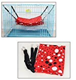 Cat Hamac Cage De Chat Hamac Coussin De Chat Lit De Chat Matelassage Chat Nid De Chat Fournitures De Chat Chat Suspendu Lit Hamac De Chat , Red , M