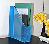 Tiedribbons&Reg; Metal Mesh Documents Files Paper Organizer Rack Storage for office Documents Letters Files(Blue)