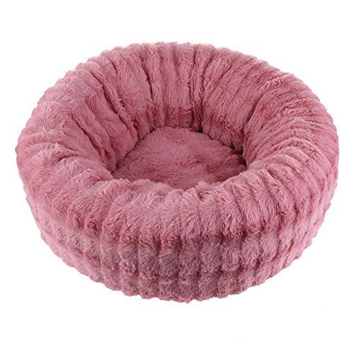 vanpower Haustierbett aus Plüsch für den Winter, rund, Donut-Design, Kissen für kleine und mittelgroße Hunde -