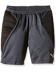 Puma  GK Padded Short - Pantalones cortos de portero de fútbol para niño, color gris, talla 140 cm