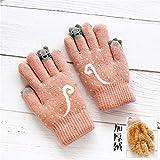 Gant gants mitaine Gants enfants hiver épaississement cinq doigts plus velours 4-6-8...