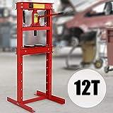 TIMBERTECH WSPR02 Pressa manuale idraulica | 12T, Inclusa pompa idraulica e 2 piastre di pressione, per officina, garage | Piegatrice