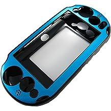 Pandaren PS Vita caso 2000 PSV delgada de aluminio metálica de protección (agua azul)
