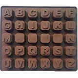 #9: Alphabet Letters A-Z SILICONE cake cookie chocolate soap MOULD ice cube tray baking mold